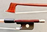 Brazilian CIRILO viola bow, half-mount, nickel/ebony