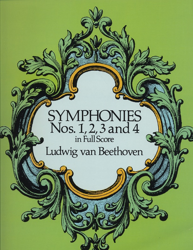 Dover Publications Beethoven, L.V: (Dover Score)  Symphonies Nos.1, 2, 3 and 4 (full orchestra)