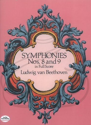 Dover Publications Beethoven: (Dover score) Symphonies Nos.8 & 9 (full orchestra) Dover Publications