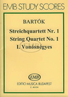 HAL LEONARD Bartok, B.: String Quartet No. 1 Op.7 (SCORE)