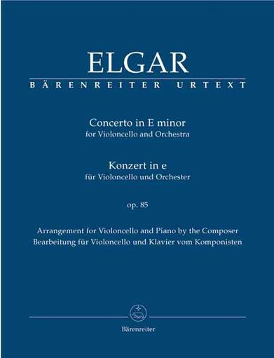 Barenreiter Elgar, Edward (Del Mar): Cello Concerto in E Minor Op.85 (cello & piano) Barenreiter Urtext