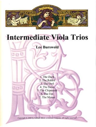 Burswold, Lee: Intermediate Viola Trios (parts and score)