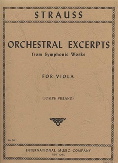 International Music Company Strauss, Richard: Orchestral Excerpts for Viola