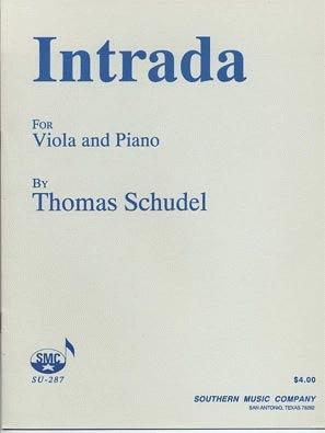 Southern Music Company Schudel, Thomas: Intrada (viola & piano)