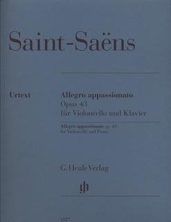 HAL LEONARD Saint-Saens, C. (Jost, ed.): Allegro Appassionato Op.43, uretxt (cello and piano)