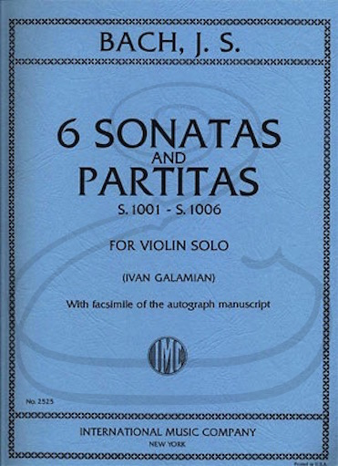 International Music Company Bach, J.S. (Galamian): 6 Sonatas & Partitas, S.1001-1006 (violin) IMC