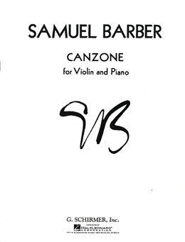 HAL LEONARD Barber, Samuel: Canzone (Violin & Piano)