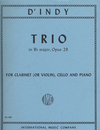 International Music Company d'Indy, Vincent: Trio Op. 29 for clarinet or violin, cello & piano