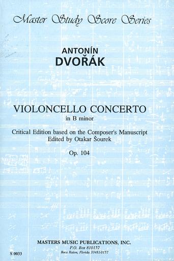 LudwigMasters Dvorak, A. (Sourek): (Score) Violoncello Concerto in B minor, Op.104 (cello, and orchestra)