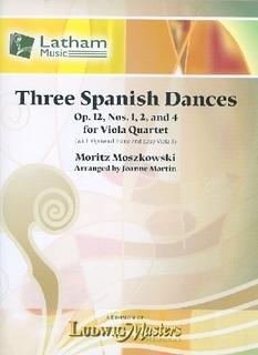 LudwigMasters Moszkowski, M. (arr. Martin): Three Spanish Dances, Op. 12, Nos 1, 2, and 4 (viola quartet)
