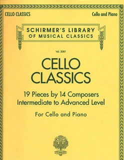 HAL LEONARD Schirmer Cello Classics-19 Pieces by 14 Composers-Intermediate to Advanced