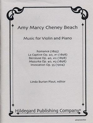Carl Fischer Beach, Amy: Music for Violin & Piano (violin & piano)
