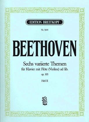 Beethoven, L. van: 6 Variations, Op.105 Vol.2 (violin/piano)