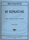 International Music Company Beethoven (Francescatti): (2 Part Set) 10 Sonatas for Violin & Piano (violin & piano) International