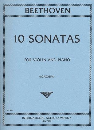 International Music Company Beethoven, L. van (Joachim): 10 Sonatas for Violin & Piano 2 part set