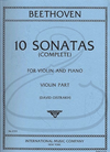 International Music Company Beethoven (Oistrakh): (2 Part Set) 10 Sonatas for Violin & Piano (violin & piano) International