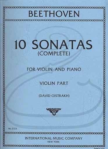 International Music Company Beethoven (Oistrakh): (2 Part Set) 10 Sonatas for Violin & Piano (violin & piano) International
