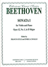 Alfred Music *OUT OF PRINT* Beethoven, L.van (Gulli): Sonata Op.12#1 in D major (violin & piano)