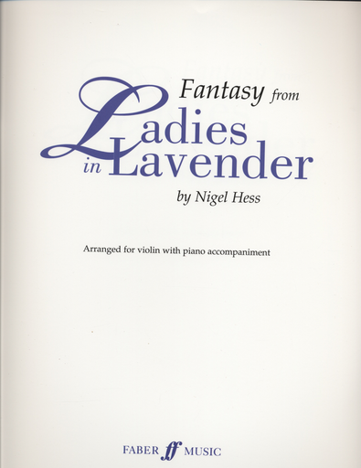 Alfred Music Hess, Nigel: Fantasy from Ladies in Lavender (violin & piano)