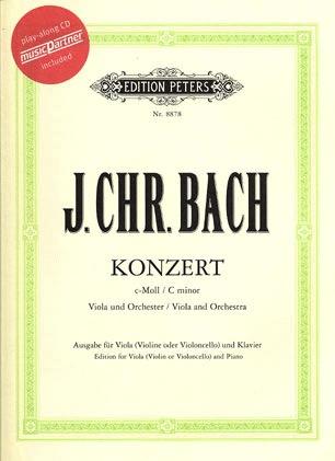 C.F. Peters Bach, J.C.: Concerto in c minor (viola, CD, piano)