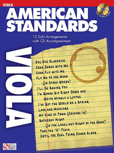 HAL LEONARD Cherry Lane Music: American Standards (viola & cd)