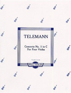 Viola World Telemann, G.P. (Arnold): Concerto No. 1 in D for 4 Violas
