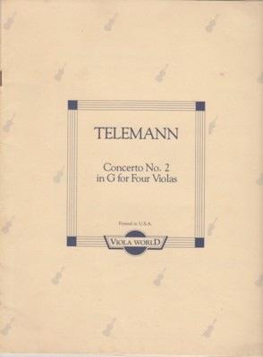 Telemann, G.P. (Arnold): Concerto No.2 in g (4 violas)