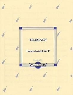 Telemann, G.P. (Arnold): Concerto No.3 in f (4 violas)