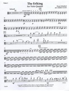 Schubert, F. (Levin): The Erlking for Viola Quintet (5 violas)