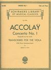 HAL LEONARD Accolay, J.B. (Doty): Concerto No. 1 in A minor (Viola & Piano)
