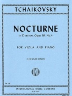 International Music Company Tchaikovsky (Davis): Nocturne in D minor, Op.19, No.4 (viola & piano)
