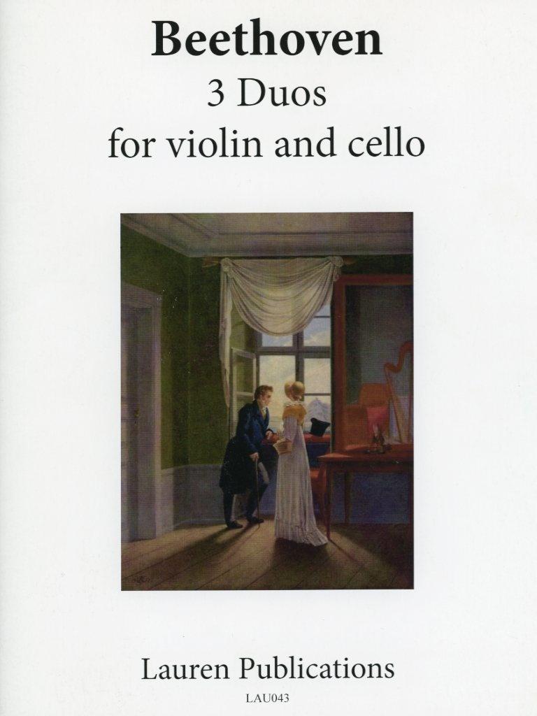 Beethoven, L.van: Three Duos for Violin & CelloLauren Publications