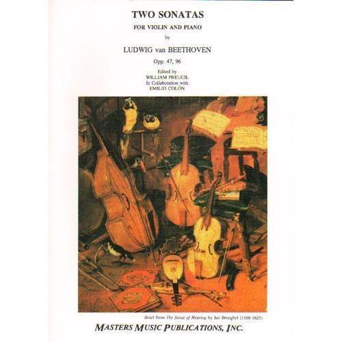 LudwigMasters Beethoven (Preucil): Two Sonatas Op.47, 96 (violin & piano) Masters Music