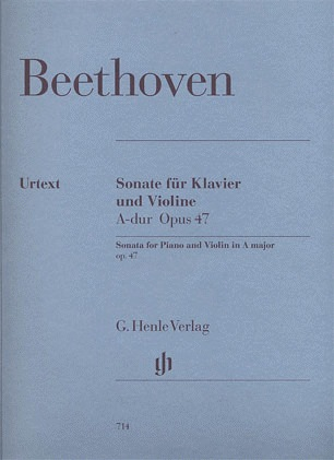 HAL LEONARD Beethoven, L. van (Brandenburg, ed.): Sonata in a A major, Op. 47 ''Kreutzer'', urtext (violin and piano)