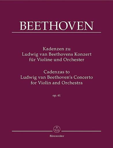 Barenreiter Beethoven, L. (Wulfhorst): Cadenzas to Violin Concerto for Violin and Orchestra op. 61 (violin) Barenreiter