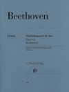 HAL LEONARD Beethoven (Schneiderhan): Cadenzas to Violin Concerto in D Major, Op.61 - URTEXT (violin)