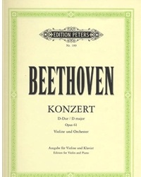 Beethoven, L.van (Flesch): Concerto in D major Op.61 (violin & piano)