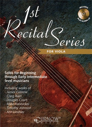 HAL LEONARD Curnow, James: 1st Recital Series for Viola (viola & CD)