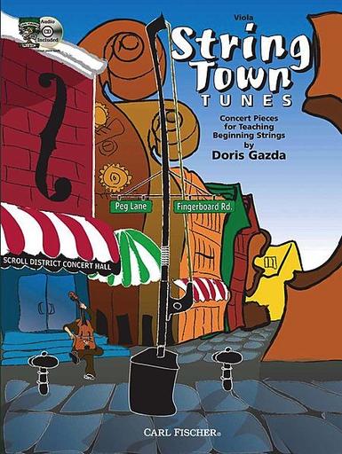Carl Fischer Gazda, Doris: String Town Tunes (viola & CD)