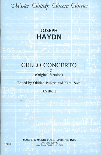 LudwigMasters Haydn, J. (Pulkert & Solc): (Score) Cello Concerto in C, Hob. VIIb: 1 (cello, and orchestra)