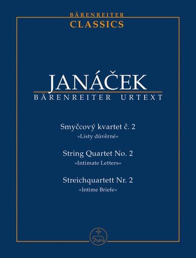 Barenreiter Janacek, Leos: Score to String Quartet No. 2 (Intimate Letters)