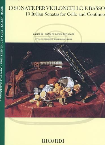 HAL LEONARD Fertonani: (collection) 10 Italian Sonatas (cello & basso continuo) Ricordi