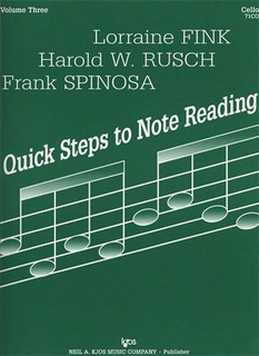 Fink, L.etc.: Quick Steps to Note Reading Vol.3 (cello)
