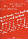 Fink, L..: Quick Steps to Note Reading Vol.4 (cello)