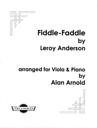 Anderson, Leroy (Arnold): Fiddle-Faddle (viola & piano)