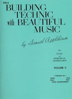 Alfred Music Applebaum, Samuel: Building Technic with Beautiful Music Vol.2 (viola)