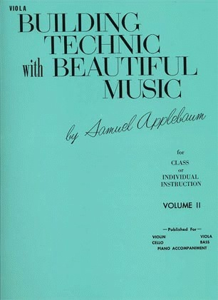 Alfred Music Applebaum, Samuel: Building Technic with Beautiful Music Vol.2 (viola)