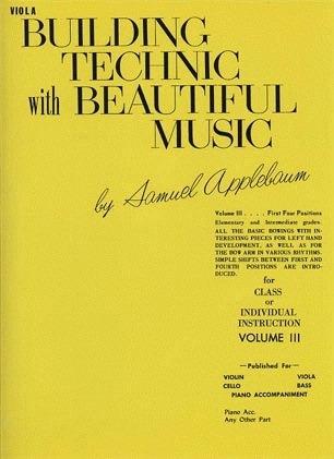 Alfred Music Applebaum, Samuel: Building Technic with Beautiful Music Vol.3 (viola)