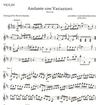HAL LEONARD Beethoven, L.van: Andante con Variazioni (violin & piano)