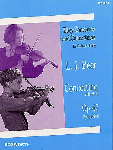 Bosworth Beer, Leopold: Concertino in e minor, Op. 47 (violin & piano)